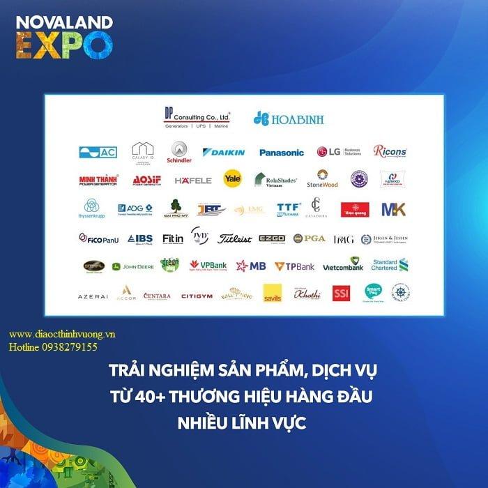 Các đơn vị tham gia sự kiện triển lãm Novaland EXPO
