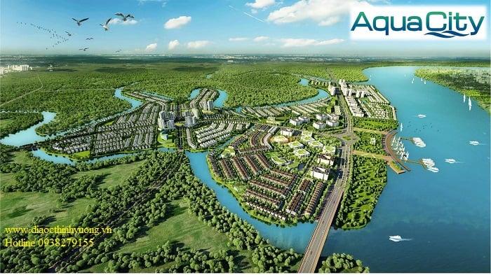 Dự án Aqua City với mặt sông vô cùng lớn