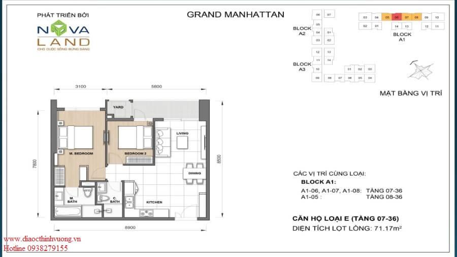 Thiết kế căn 2PN 71,17 m2