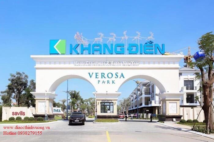 Cổng vào dự án Verosa
