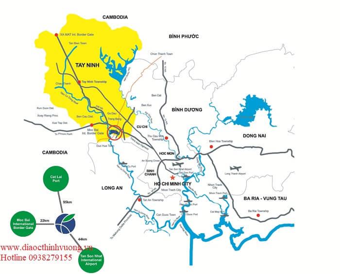 Tỉnh Tây Ninh tiếp giáp TP Hồ Chí Minh