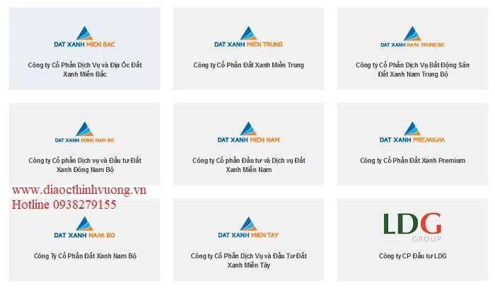 Một số công ty thành viên của Đất Xanh Group