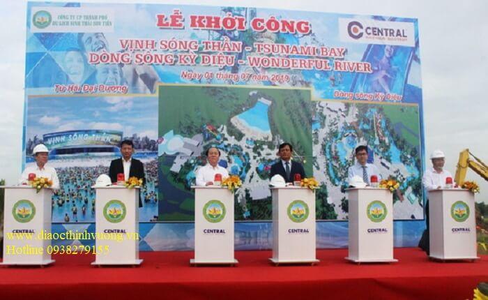 Các tiểu dự án trong KDL Sơn Tiên đã khởi công xây dựng