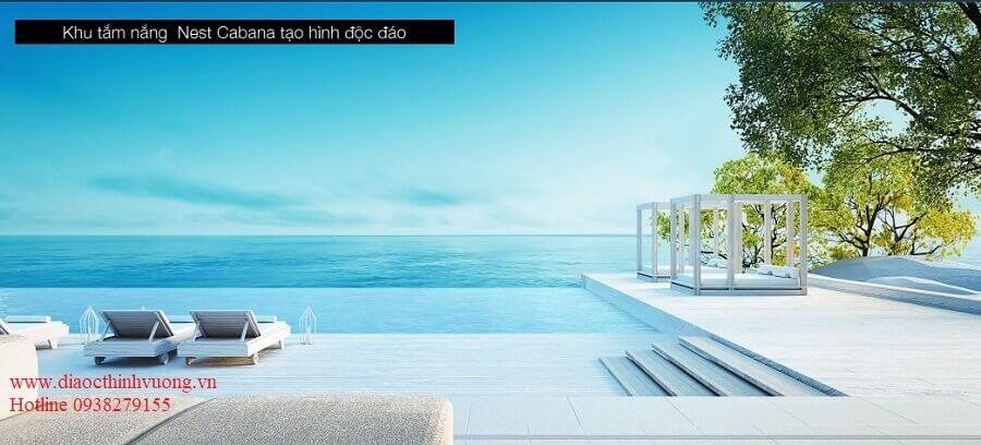 Khu tắm nắng với hướng view dành cho khách hàng thích tận hưởng gió biển.