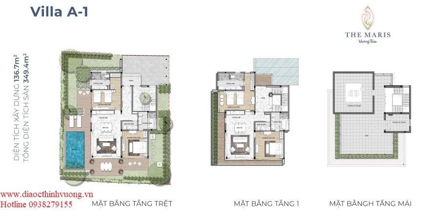 Thiết kế chi tiết biệt thự The Maris tại TP Vũng Tàu