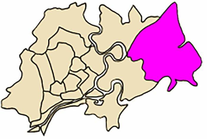 Vị trí địa lý của Quận 9 trong Tp.HCM