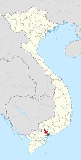 Vị trí của thành phố Hồ Chí Minh trên lãnh thổ Việt Nam