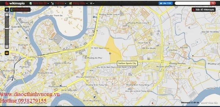 Tổng thể khu đất 64 ha của Saigon Sports City
