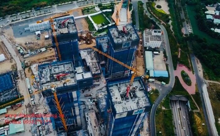 Hình ảnh toàn cảnh tiến độ thi công dự án Empire City