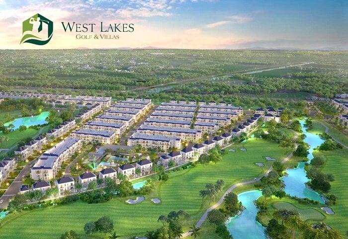 Tổng thể dự án West lakes Golf & Villas