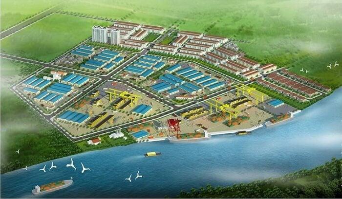 Phối cảnh khu công nghiệp Tân Kim mở rộng