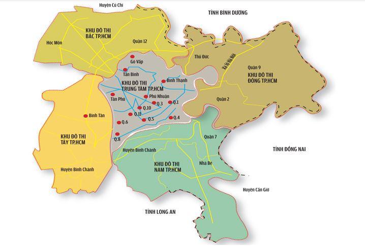 Bản đồ các phân khu đô thị Tp. HCM