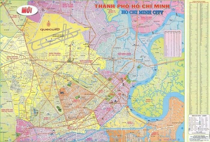 Bản đồ chỉ dẫn đường phố TP.HCM