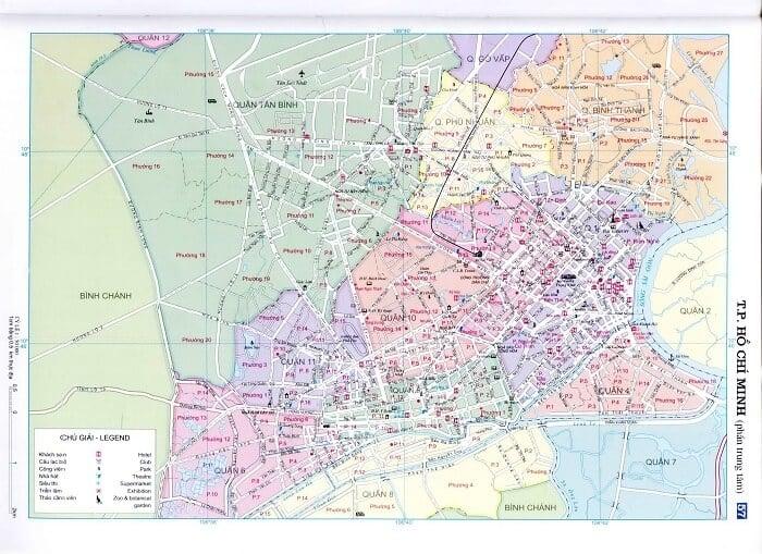 Bản đồ khu trung tâm TP HCM