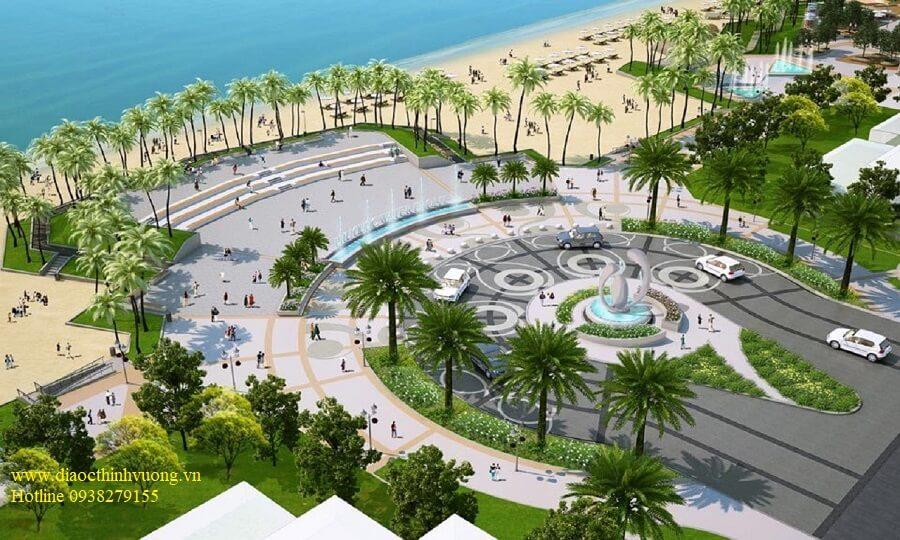 Công viên ven biển tại dự án Hồ Tràm Complex