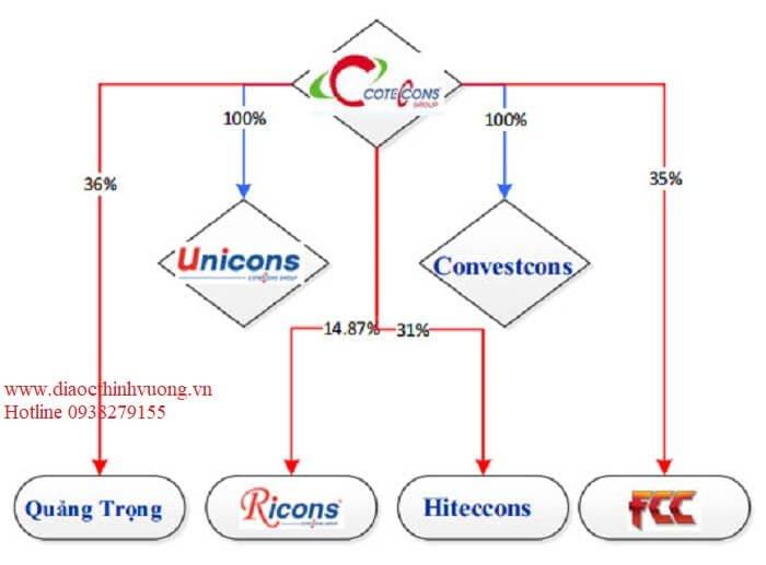 Cơ cấu các công ty thành viên trong Coteccons Group