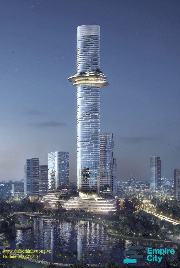 Tổng thể tòa tháp 88 tầng trong dự án Empire City - Empire 88 Tower