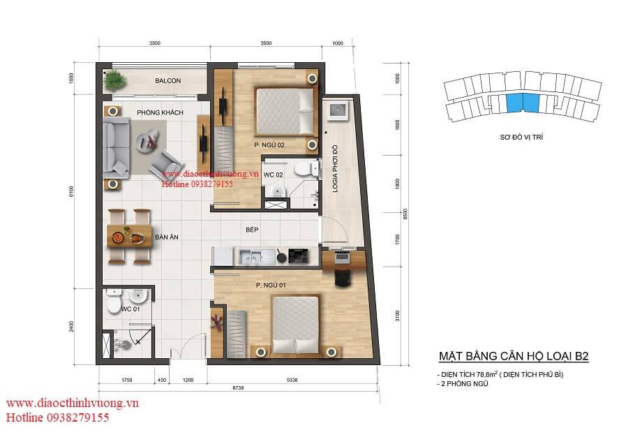 Thiết kế căn hộ 79 m2