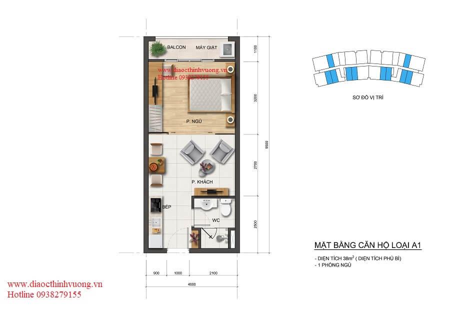 Thiết kế căn hộ 38 m2