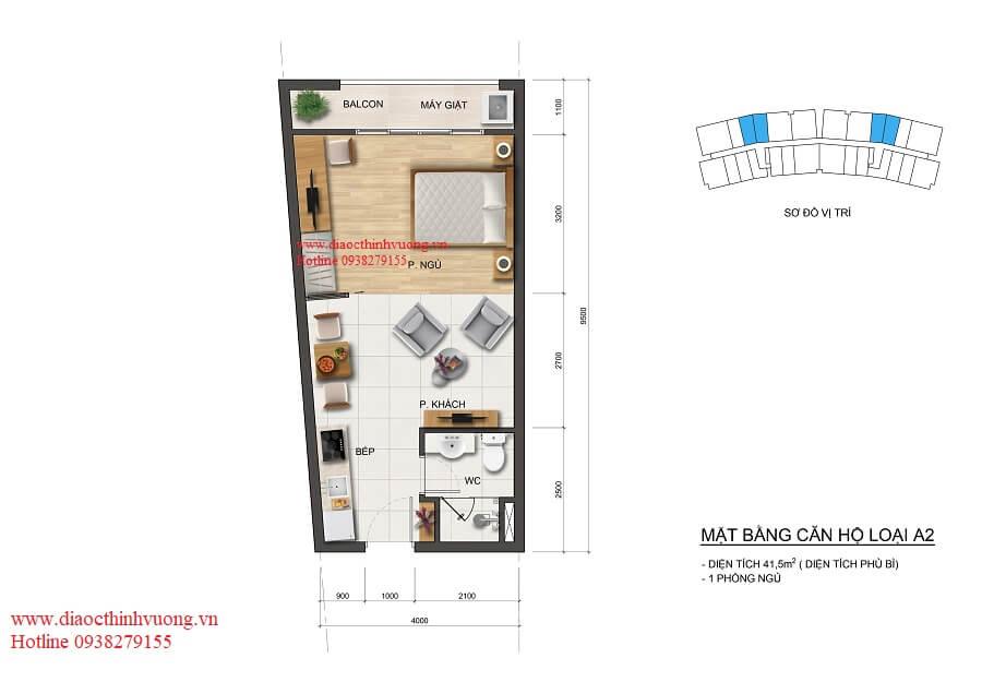 Thiết kế căn hộ 41 m2