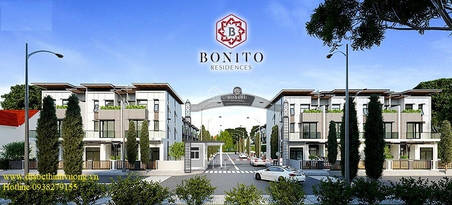 Cổng vào khu nhà ở cao cấp Bonito Residences