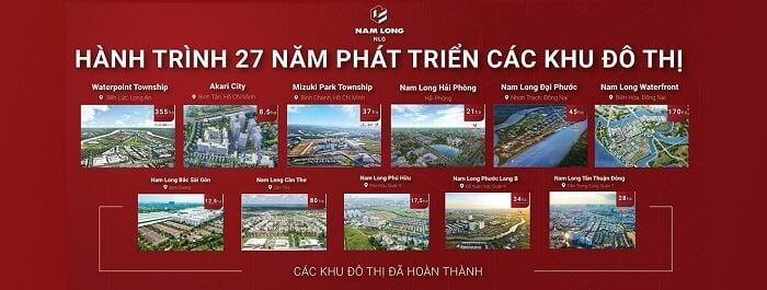 Một số dự án tiêu biểu mà tập đoàn Nam Long đã thực hiện