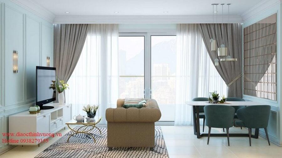 Phòng khách có hướng view cực thoáng và đẹp
