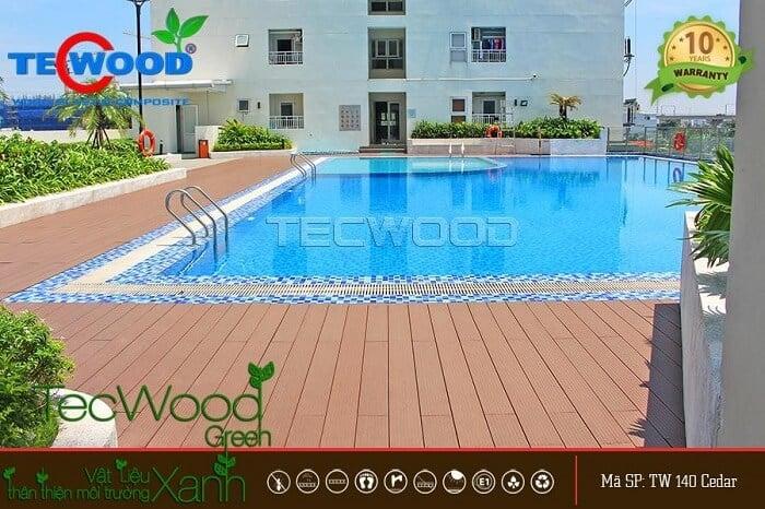 Sàn gỗ ngoài trời TecWood do công ty Kiến Tâm thi công