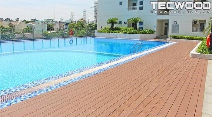 Dự án lót sàn bể bơi ngoài trời