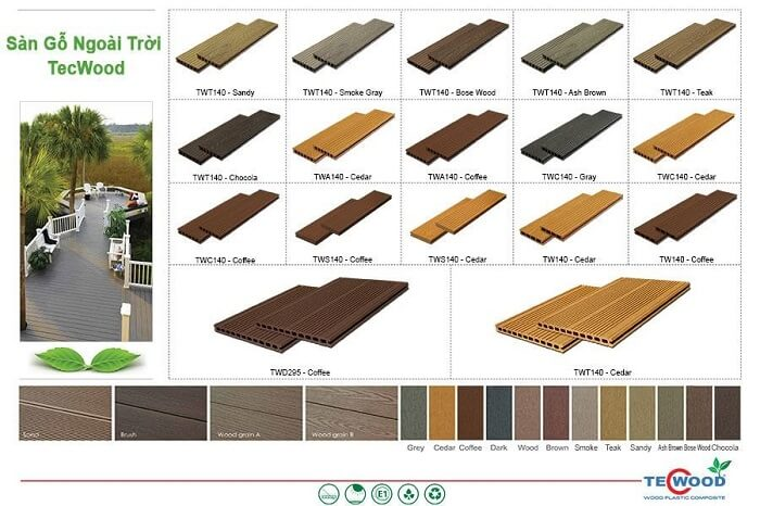 Một số sản phẩm gỗ ngoài trời cao cấp của TecWood