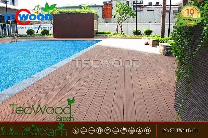 Sàn gỗ ngoài trời TecWood lót sàn hồ bơi