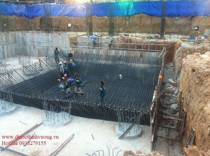 Thi công móng hầm của một dự án cao tầng rất quan trọng.