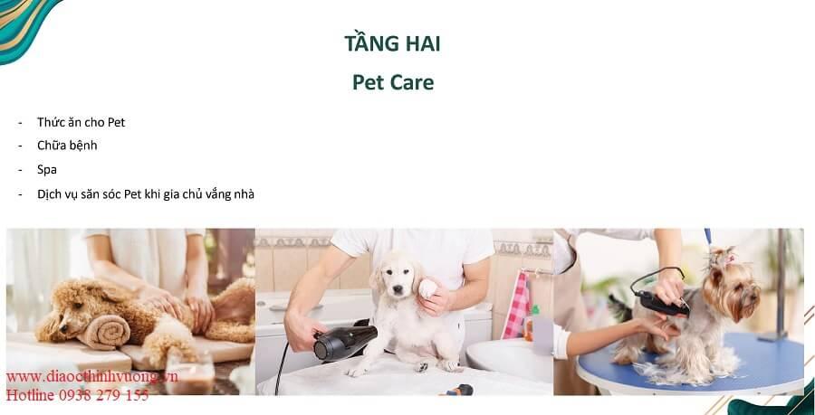 Khu chăm sóc các bạn Pet của bạn nằm ngay tại tầng 2