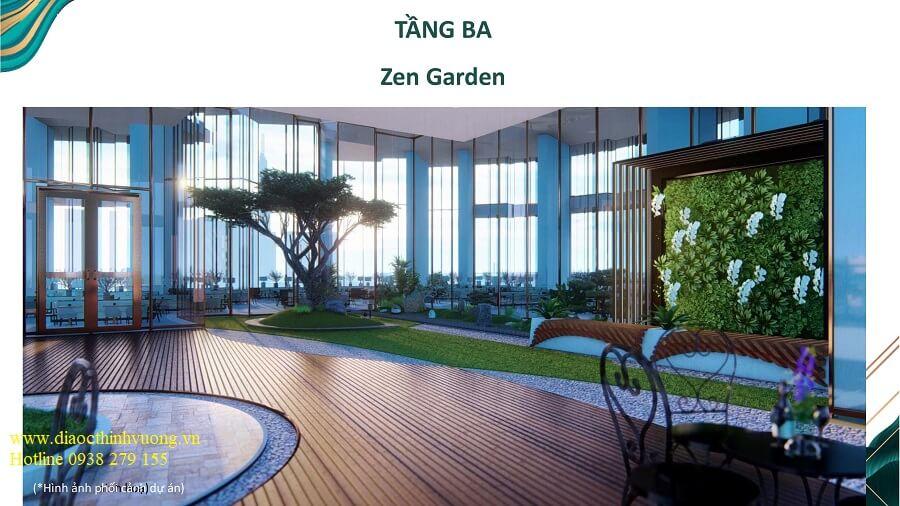 Khu vườn thiền Zen Garden trên không tại tầng 3 căn hộ Sunshine Quận 2