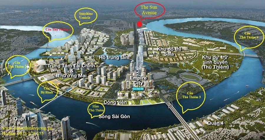 Căn hộ The Sun Avenue liền kề khu đô thị mới Thủ Thiêm