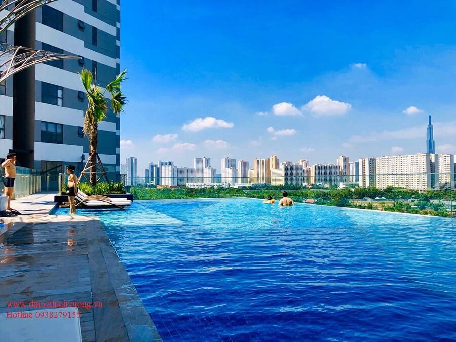 Hồ bơi căn hộ The Sun Avenue tháp S3