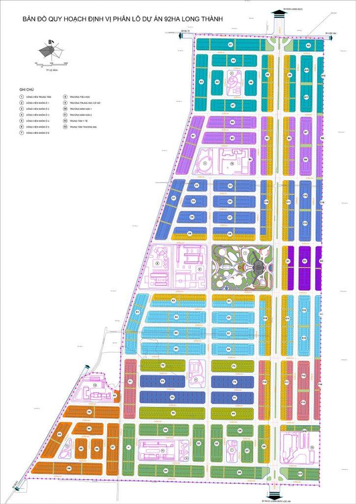 Bản đồ quy hoạch phân lô dự án Gem Sky World