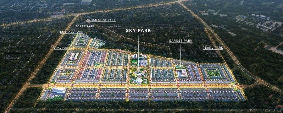 Các khu công viên của dự án Gem Sky World