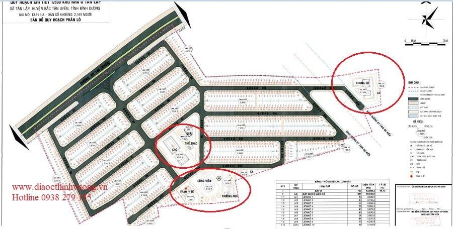 Các cụm tiện ích nội khu được thể hiện đầy đủ trên quy hoạch 1/500