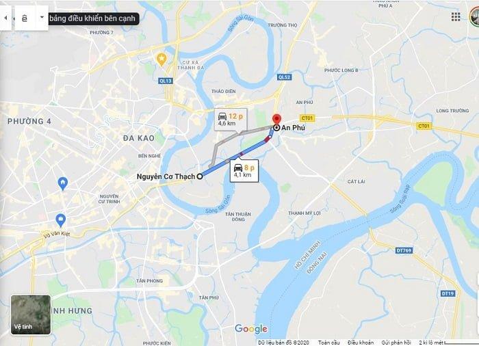 TTTM Socar Mall cách nút giao thông An Phú khoảng chỉ 8 phút di chuyển