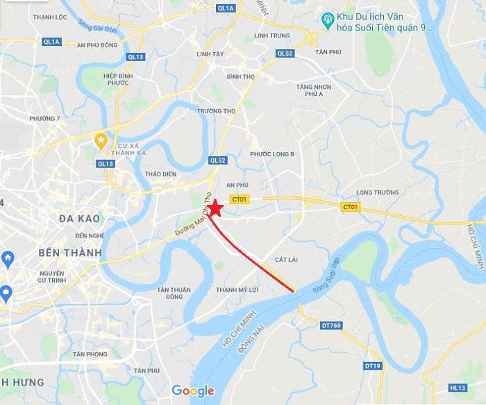 Vị trí căn hộ Precia kết nối trực tiếp với Đồng Văn Cống - UBND Q2