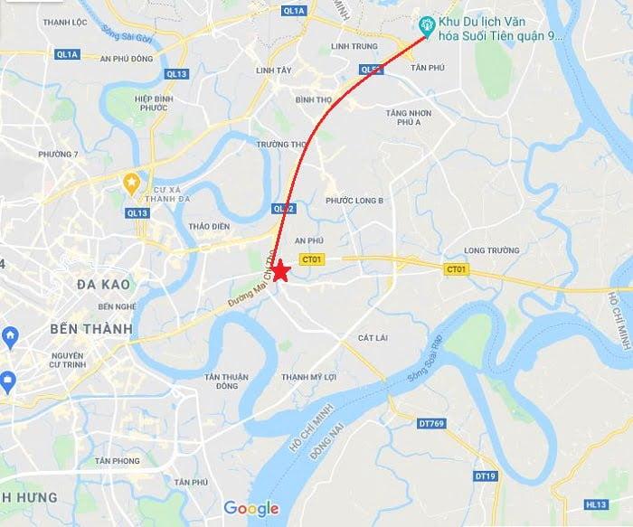 Căn hộ Precia kết nối dễ dàng với tuyến đường huyết mạch khu Đong Sài Gòn là Xa Lộ Hà Nội