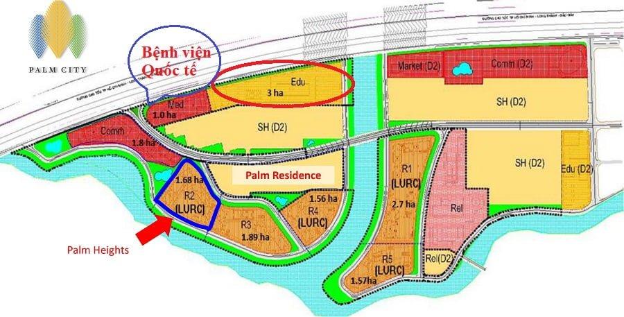 Quy hoạch tổng thể khu Nam Rạch Chiếc - Palm City