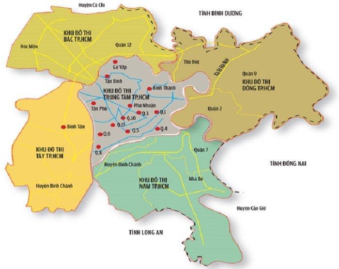 Khu đô thị phía Đông Sài Gòn gồm Quận 2, Thủ Đức và Quận 9