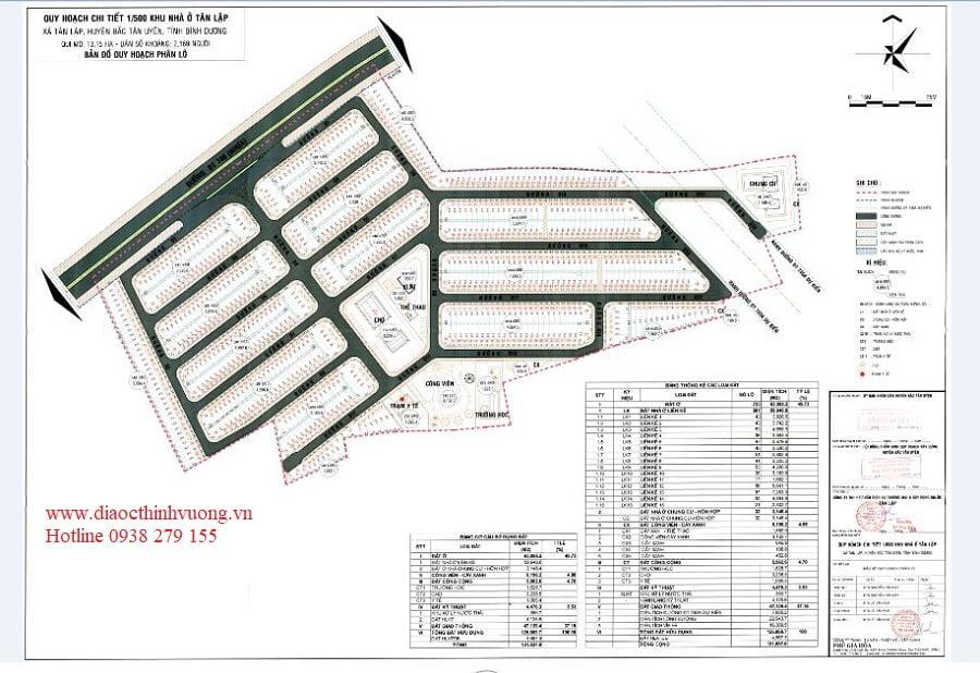 Quy hoạch chi tiết 1/500 của dự án Victory City
