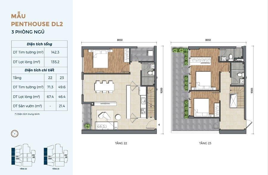 Thiết kế căn hộ Penthouse tại Precia