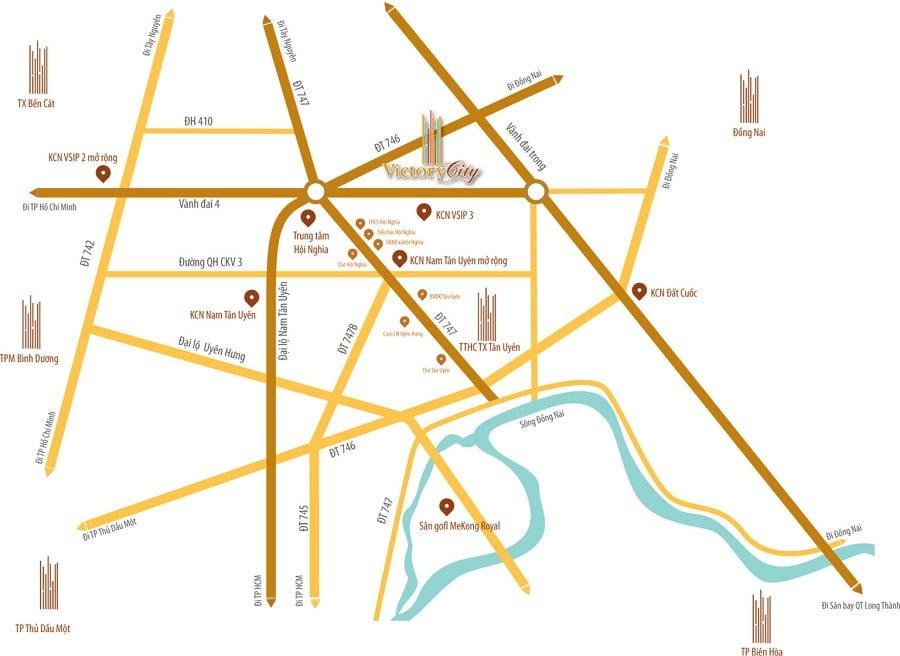 Tiện ích ngoại khu và các liên kết vùng của dự án Victory City