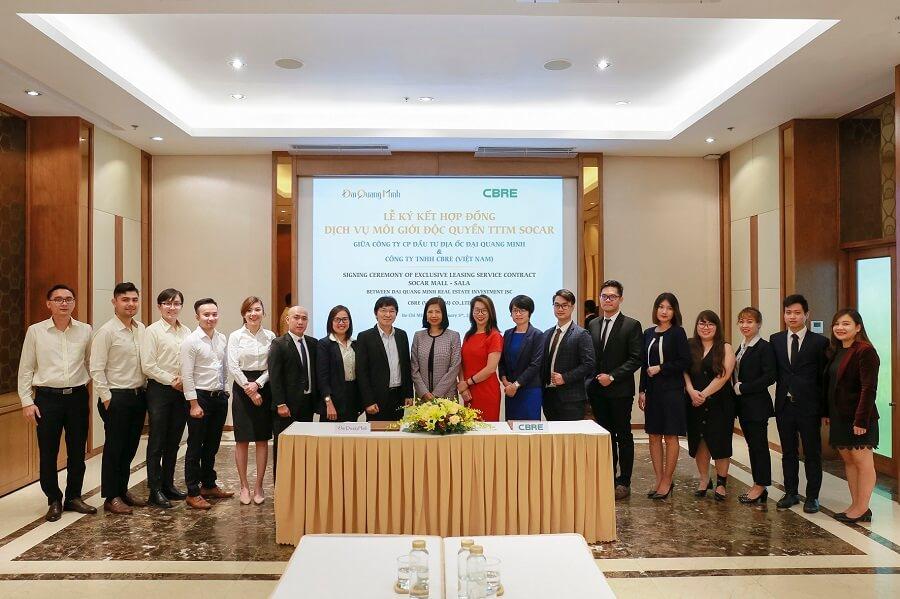 Lễ ký kết giữa CBRE và Đại Quang Minh