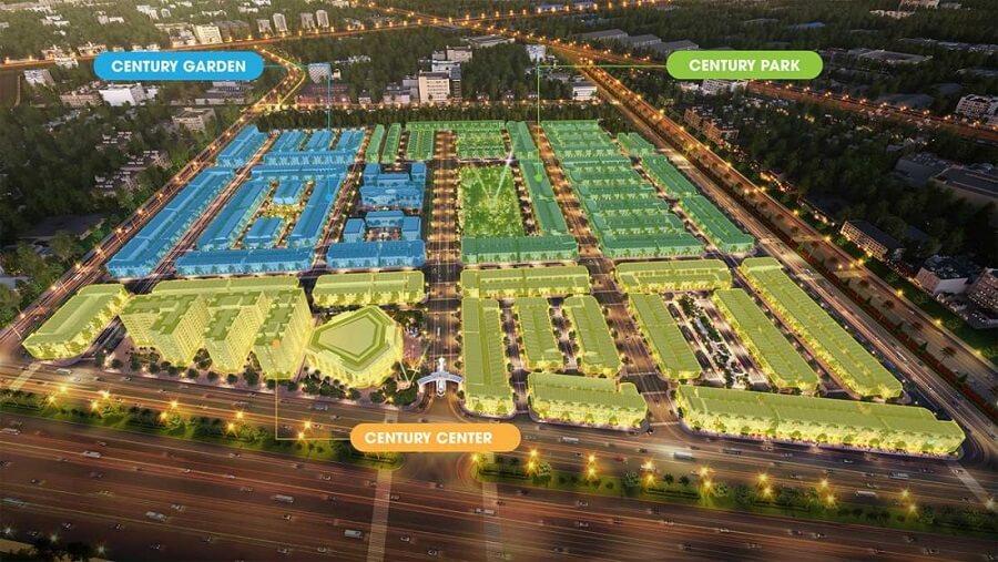 Có 3 phân khu tại dự án Century Long Thành