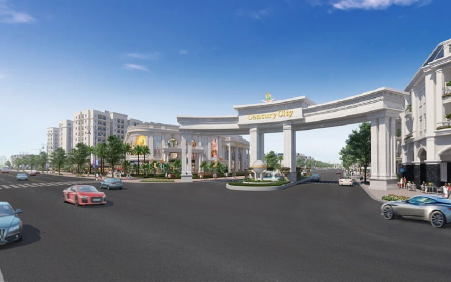 Cổng vào dự án Century City cũng là phân khu Century Center